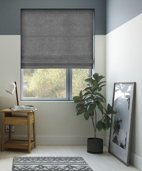 Basketweave New Grey Roman Blind 247 Blinds