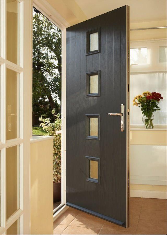 Anglian Doors Guarantee Anglian Home Improvements Black Composite Door