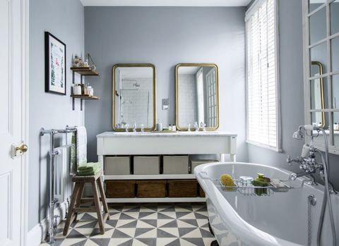 Boutique hotels provide inspiration for vintage bathroom makeover on