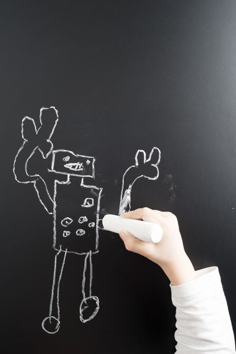 writing on black chalkboard