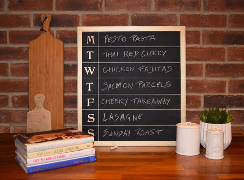 Rust-Oleum Chalkboard Meal Planner