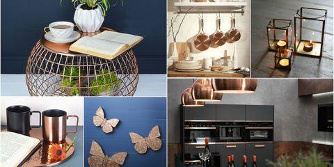 metallic interior inspiration copper accents