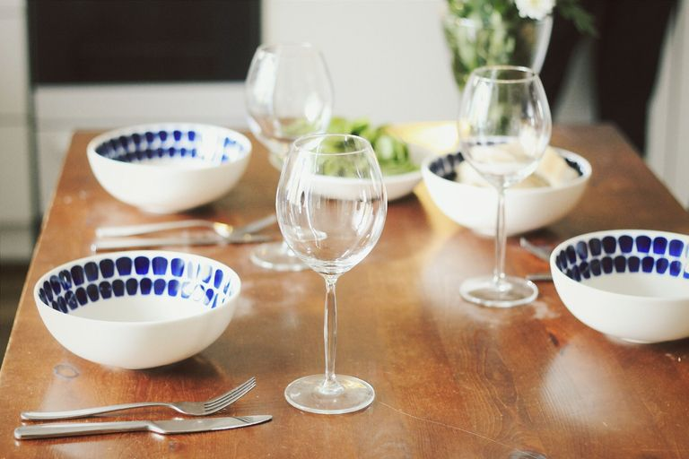 glasses table setting. Table Setting With Wine Glasses