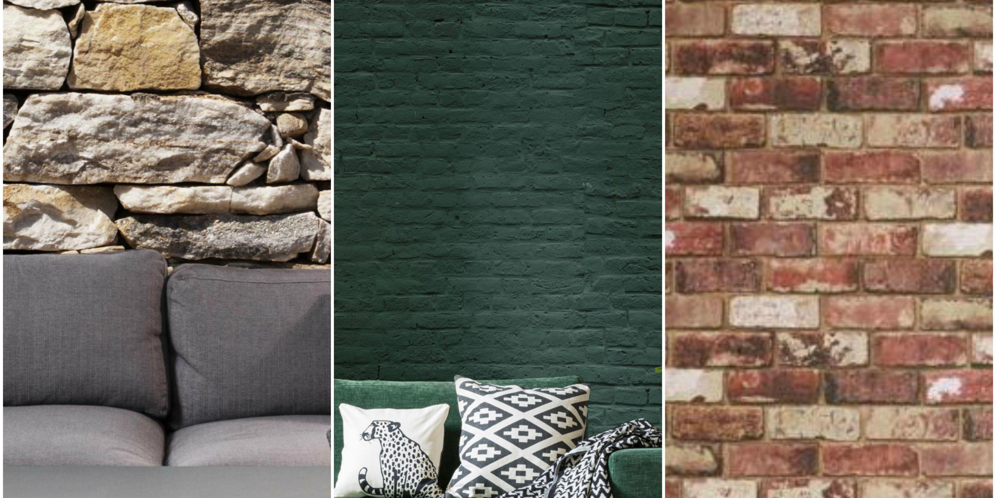 Brick Wallpaper Collage