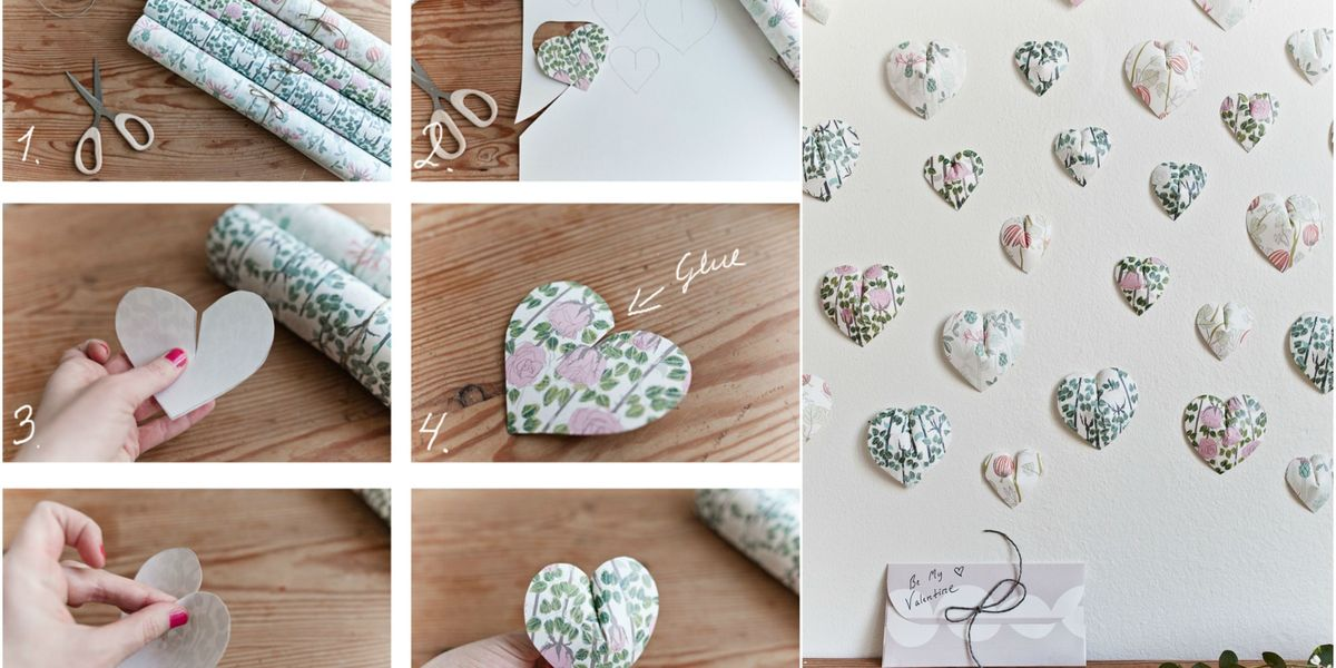 Create This Pretty 3d Paper Heart Wall Hanging In 6 Easy Steps