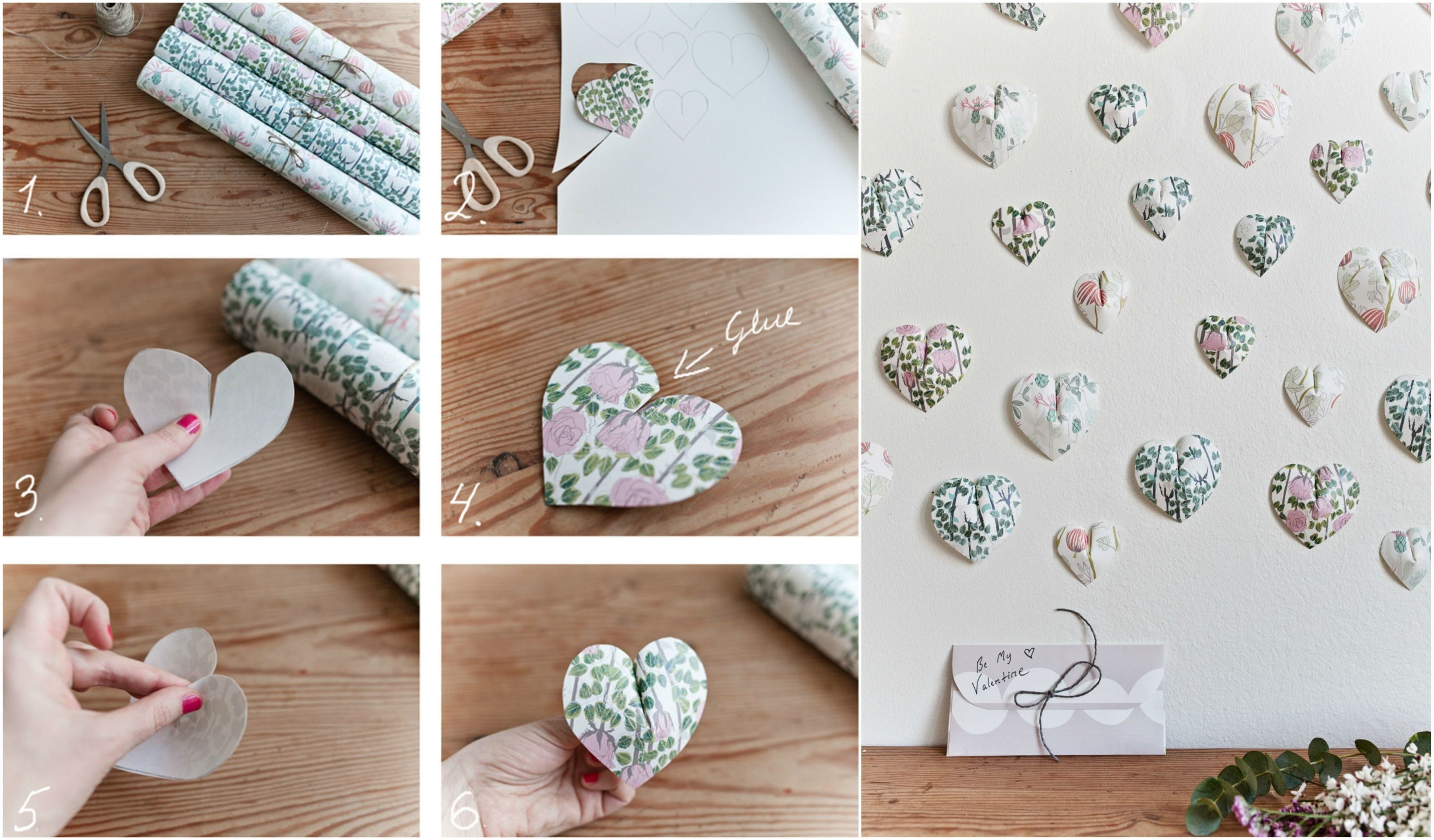 Photowall 3D Heart Wall Hanging: Wallpaper From Swedish Designer Plingsulli