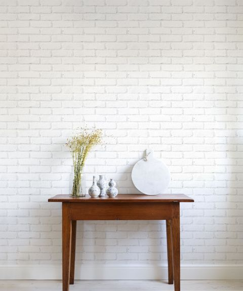 White Brick Wallpaper From Photowall
