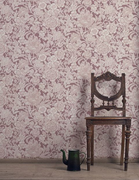 Inspired Wallpaper CROWN WILD HEDGEROW PLUM FLORAL WALLPAPER