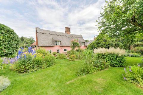 Pink cottage, Suffolk Edge