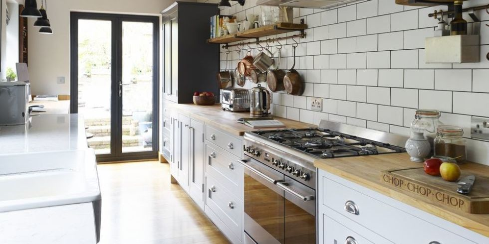 This Shaker Style Galley Kitchen Merges Vintage With