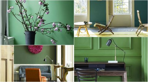 Shades of green collage