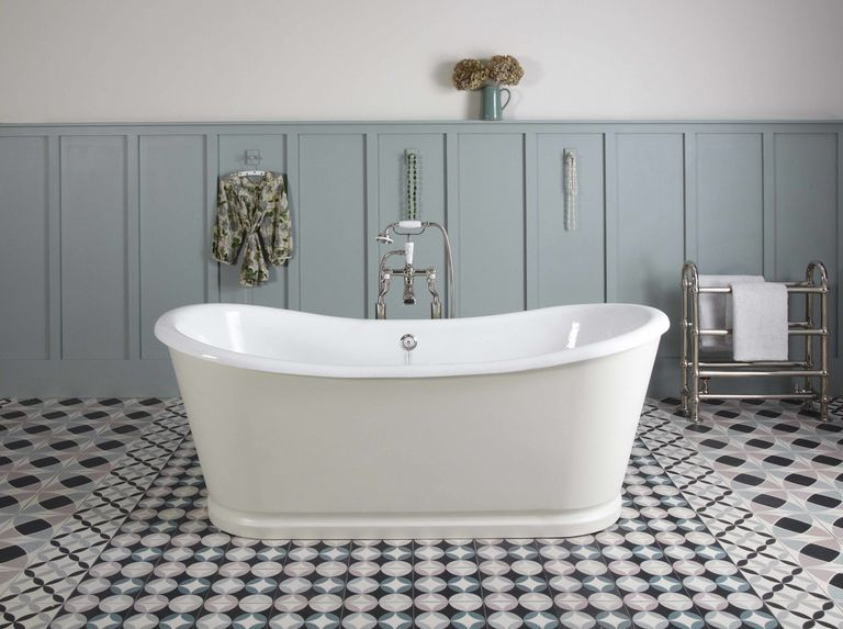 creative inspiration resin bathroom floor. Bath Grand La Rochelle Painted In Vintage 1884 Panelling Long Acre No 102 Installing a cast iron bath  Here s how to strengthen bathroom