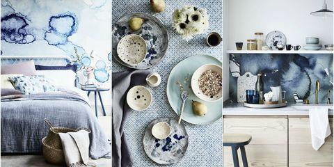 Inky blue interiors