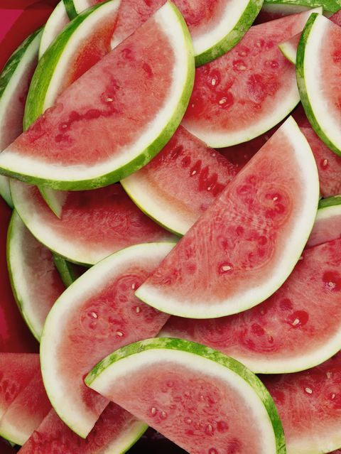 """<p>Store all melons on the counter if you want to maximise their flavour (which, of course, you do), but beyond taste, there is also a health consideration for not keeping them in the fridge. <a href=""""http://www.foodnetwork.com/healthy/packages/healthy-every-week/healthy-tips/foods-you-should-not-refrigerate"""" target=""""_blank"""" data-tracking-id=""""recirc-text-link"""">USDA research found</a>&nbsp;that storing melons at room temperature helps preserve the antioxidants in them.&nbsp;After you've cut into them, however, stick them in the fridge&nbsp;to prevent bacterial growth.</p>"""