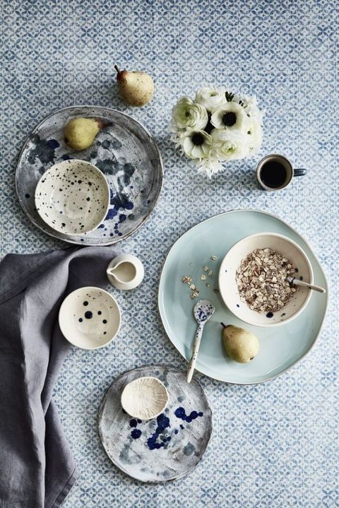 Style inspiration: Inky blues. Styling by Sally Denning. Photography by Mark Scott.