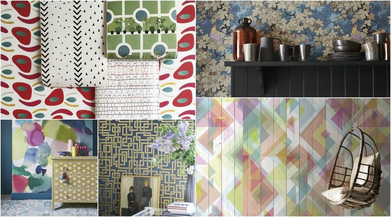 excellent funky wallpaper for house. Wallpaper trends collage Top wallpaper for 2017
