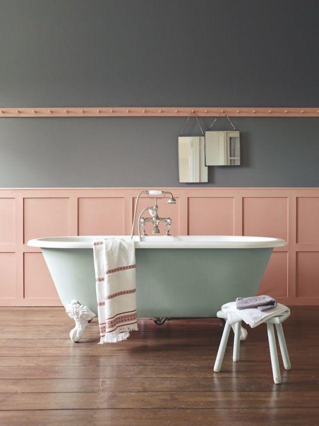 Sanderson Paint   Coral Bathroom
