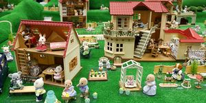 Sylvanian families are displayed at the International Tokyo Toy Show, 2014