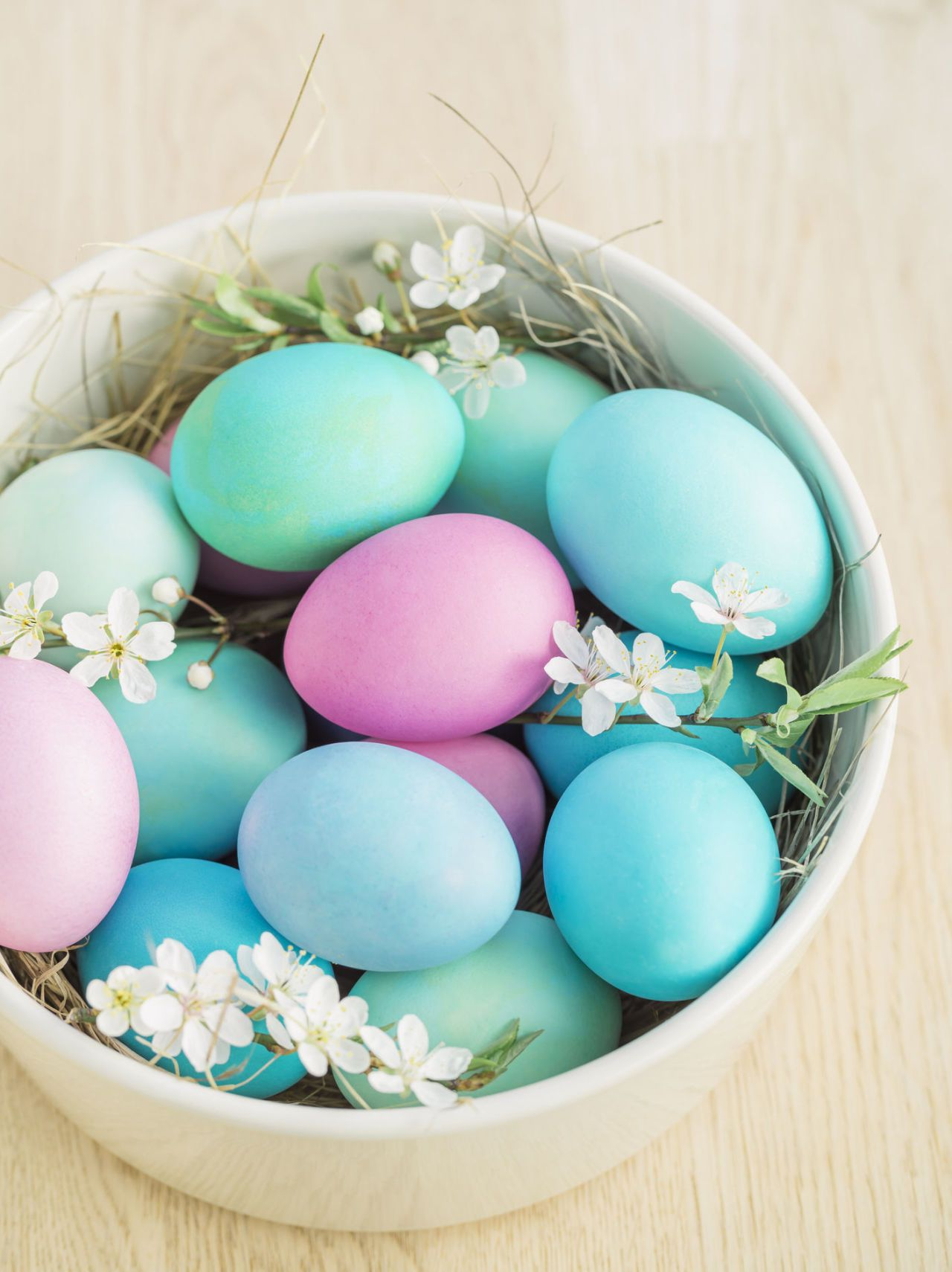 Delightful Pastel Coloured Easter Eggs Nice Look