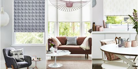 Stylish roller blinds, House Beautiful collection at Hillarys