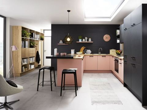 Pink And Black Kitchen Inhouse