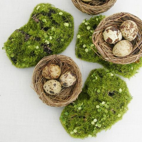 Artificial Moss Mound For A Wedding Table by Just Add A Dress