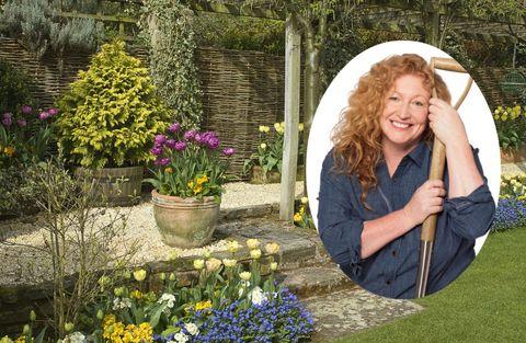 Charlie Dimmock, spring garden