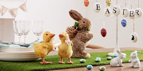 Easter table decorations all the essentials you need straw rabbit 12 straw chick 4 large white tree 20 negle Gallery