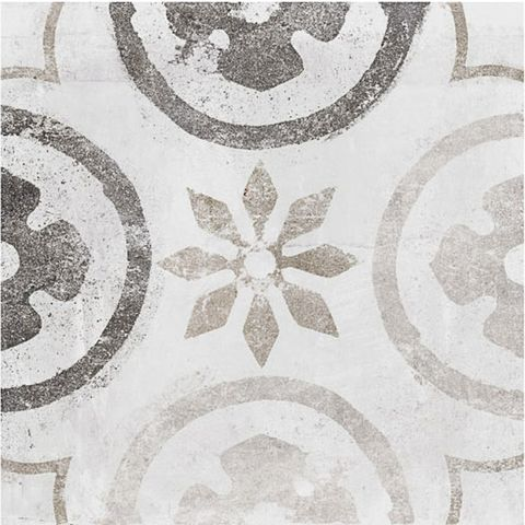 Patterned kitchen floor tiles