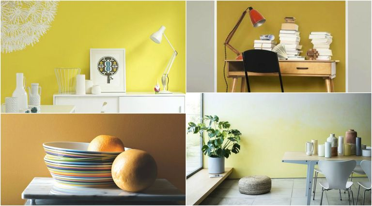 Joyful Yellow Shades For Modern Room Schemes