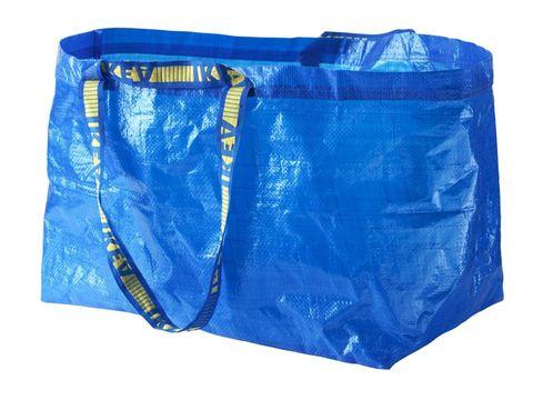 Ikea's FRAKTA blue carrier bag