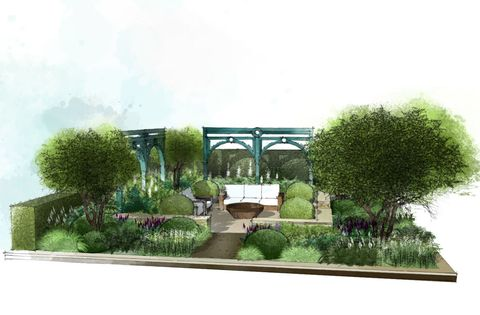 Covent Garden reimagined as a Show Garden for the Chelsea Flower Show 2017