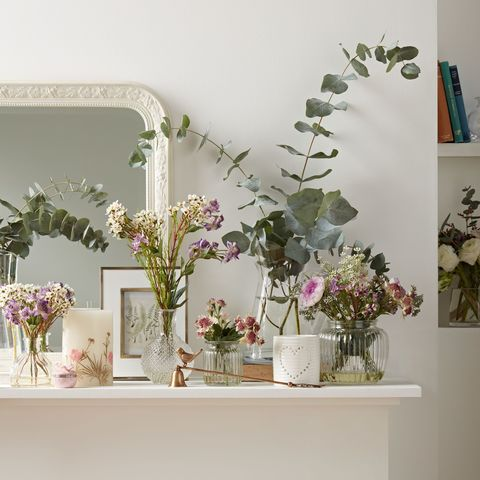 How to style artificial flowers and plants at home john lewis artificial peony purple flowers mightylinksfo