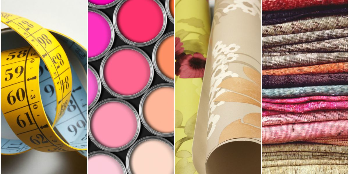 How to measure paint, wallpaper and fabric