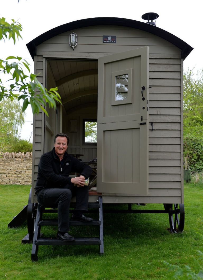 Former Prime Minister David Cameron Buys Designer Garden Shed   A Shepherd  Hut   Thought To