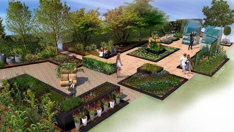 Bbc S Saturday Kitchen And Rhs Create The Kitchen Garden At The