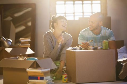first time buyers moving into their new house