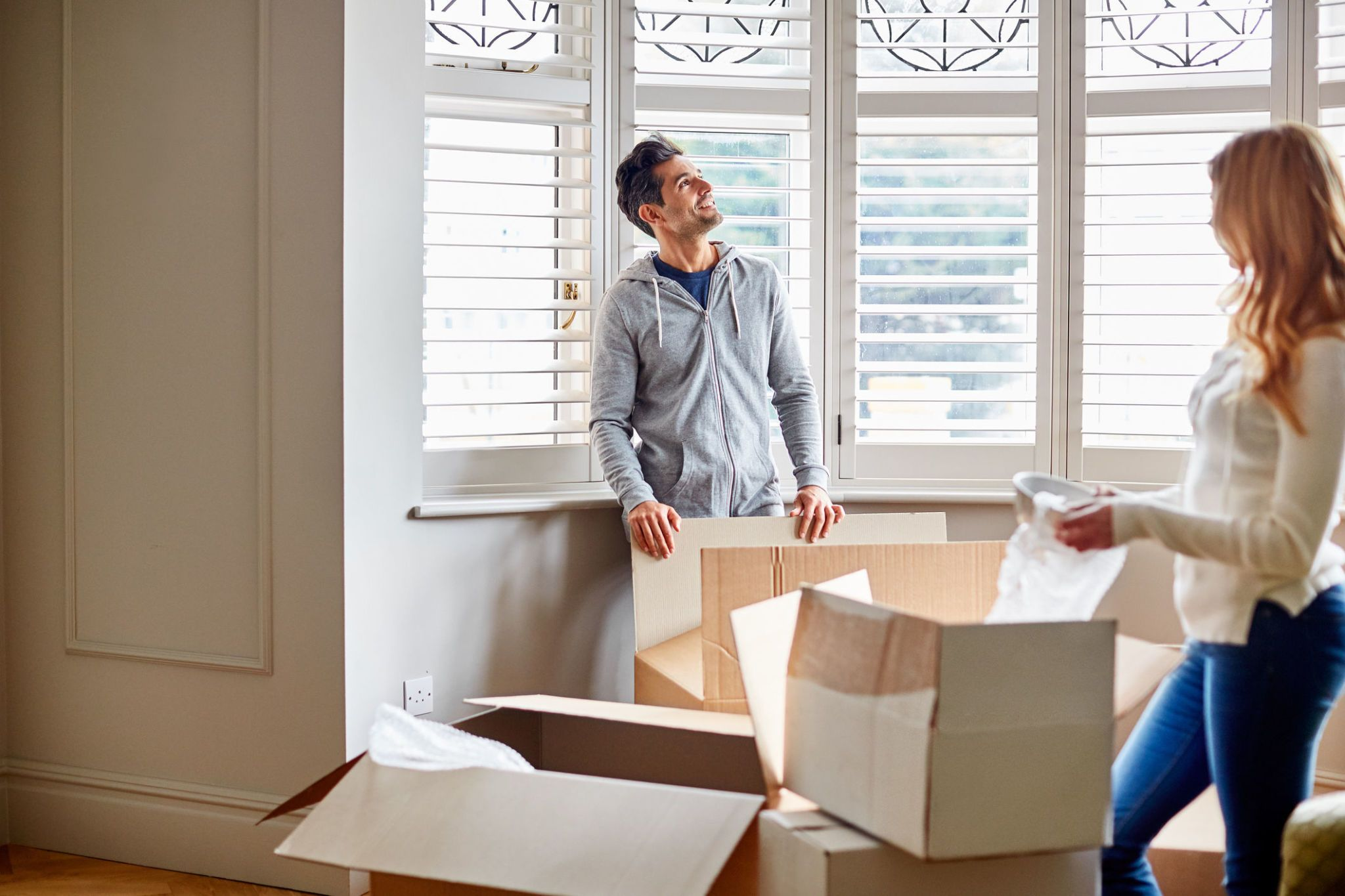 Couple moving into their new home. Getty Imageskupicoo. How long does it really take to make a house ... & It takes first-time buyers five months to make a house a home