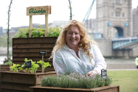 TV Presenter and Gardening Legend, Charlie Dimmock at Ricola's Urban Herb Garden celebrating International Herb Day