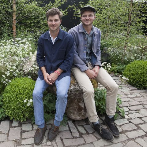 Harry And David Rich In Their Night Sky Garden - RHS Chelsea Flower Show 2014
