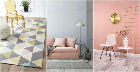 Pastels colour scheme collage