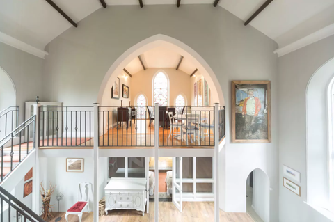 """<p>In a quiet English village just 30 minutes from Bath and Bristol, this <a href=""""https://www.airbnb.com/rooms/3321070"""" target=""""_blank"""">Gothic Church</a> has been converted into a welcoming six-bedroom home. The interiors are cosy and stylish while still celebrating the charm of the original structure. It sleeps 17 people and starts at £1,116&nbsp;per night.</p>"""
