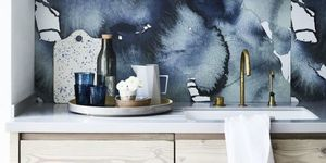 Inky blue hues: Kitchen design. Styling by Sally Denning and Photography by Mark Scott.
