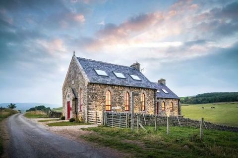 """<p>Known as the <a href=""""https://www.airbnb.com/rooms/5625285"""" target=""""_blank"""">Chapel on the Hill</a>, this converted Methodist Chapel is the perfect <a href=""""http://www.housebeautiful.co.uk/decorate/looks/news/a129/romantic-homes-worldwide/"""" data-tracking-id=""""recirc-text-link"""">romantic getaway</a>. Situated in the countryside town of Forest-in-Teesdale, the Chapel has an extraordinary view of the surrounding areas and famous High Force Waterfall. Indoors, you'll find eccentric décor and sleek modern amenities.</p>"""