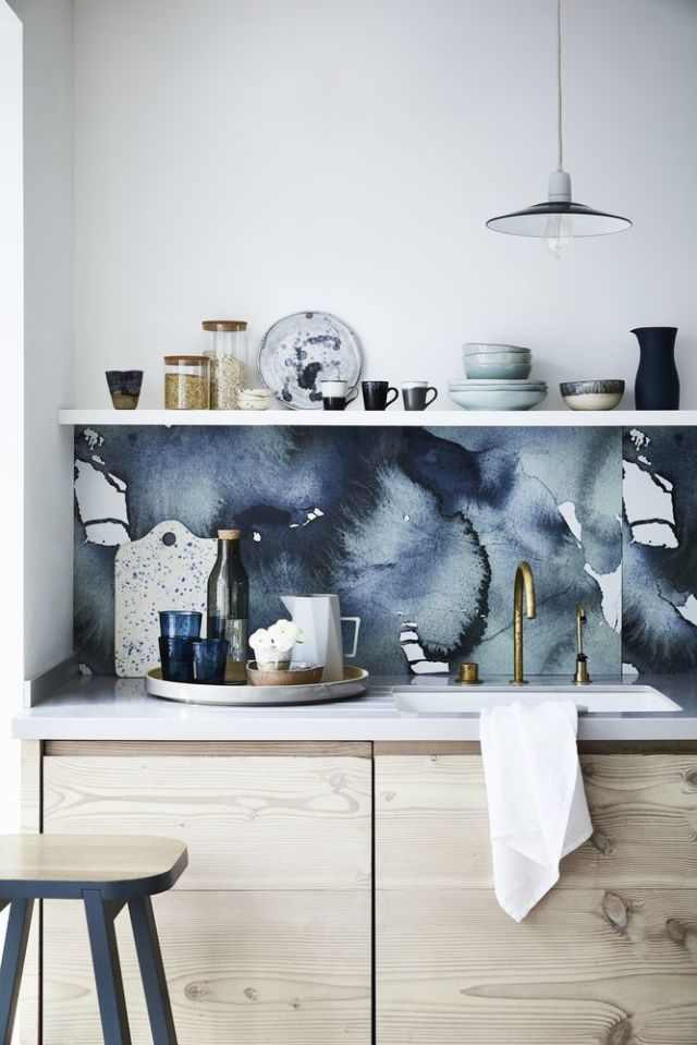 Inky Blue Hues: Kitchen Design. Styling By Sally Denning And Photography By  Mark Scott