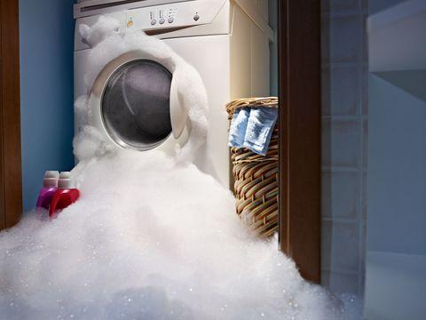 Washing machine foaming - broken washing machine