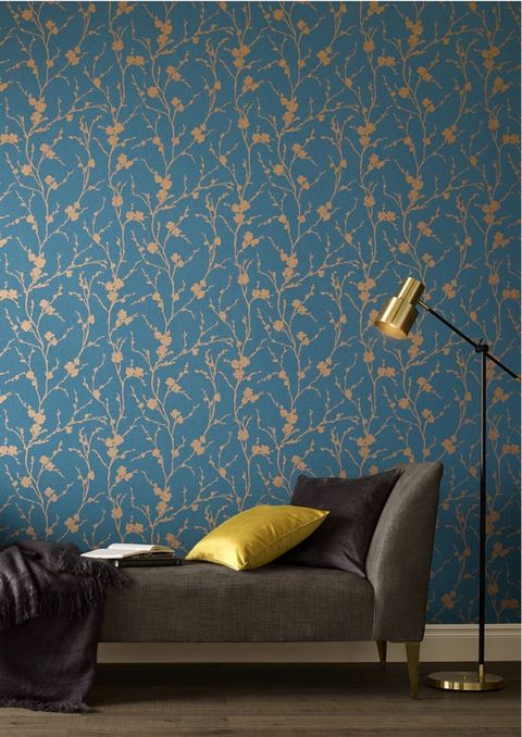 Graham And Brown Chelsea Flower Show Inspired Wallpaper Meiying Teal