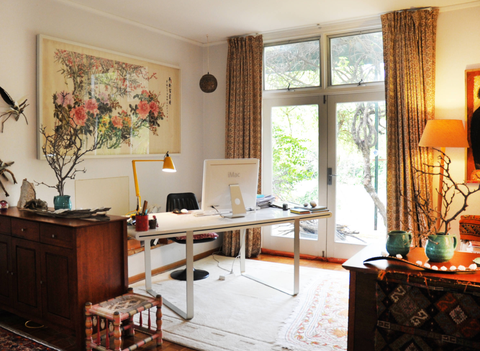 Home Office In Living Room By Luci D Interiors Houzz