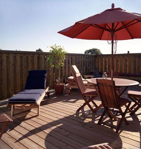 modern garden decking