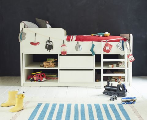 Loaf Clamber Doodle Kids Cabin Bed in white